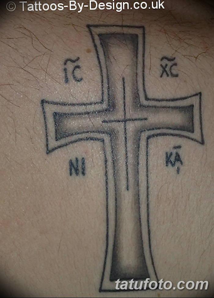 Фото рисунка тату Православный крест 12.10.2018 №038 - tattoo Orthodox - tatufoto.com