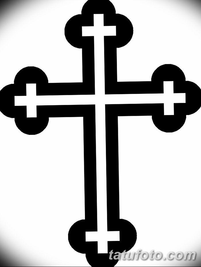 Фото рисунка тату Православный крест 12.10.2018 №054 - tattoo Orthodox - tatufoto.com