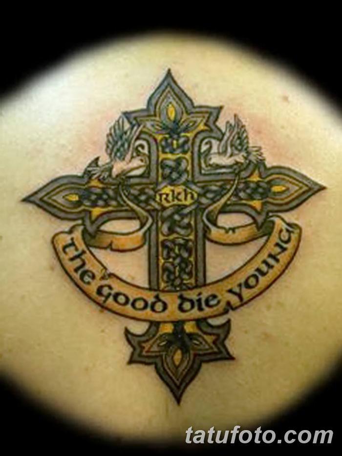 Фото рисунка тату Православный крест 12.10.2018 №064 - tattoo Orthodox - tatufoto.com