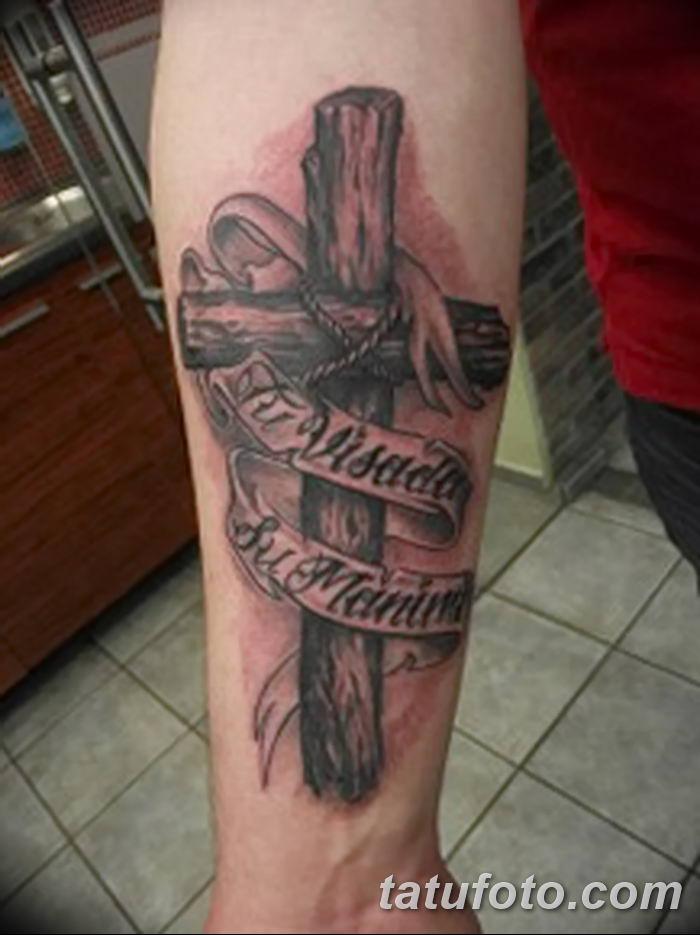 Фото рисунка тату Православный крест 12.10.2018 №084 - tattoo Orthodox - tatufoto.com