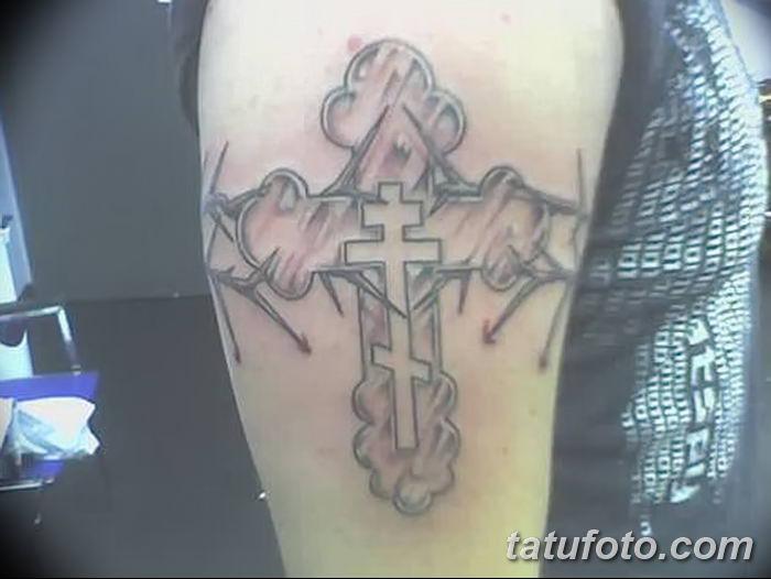 Фото рисунка тату Православный крест 12.10.2018 №092 - tattoo Orthodox - tatufoto.com