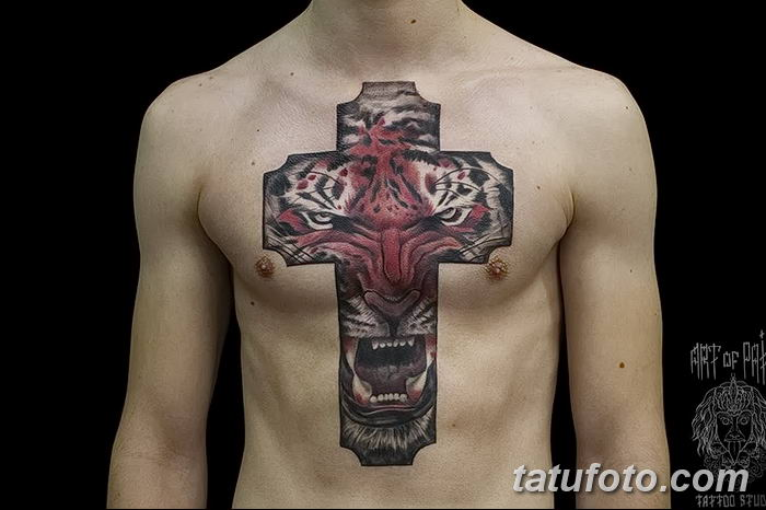 Фото рисунка тату Православный крест 12.10.2018 №163 - tattoo Orthodox - tatufoto.com