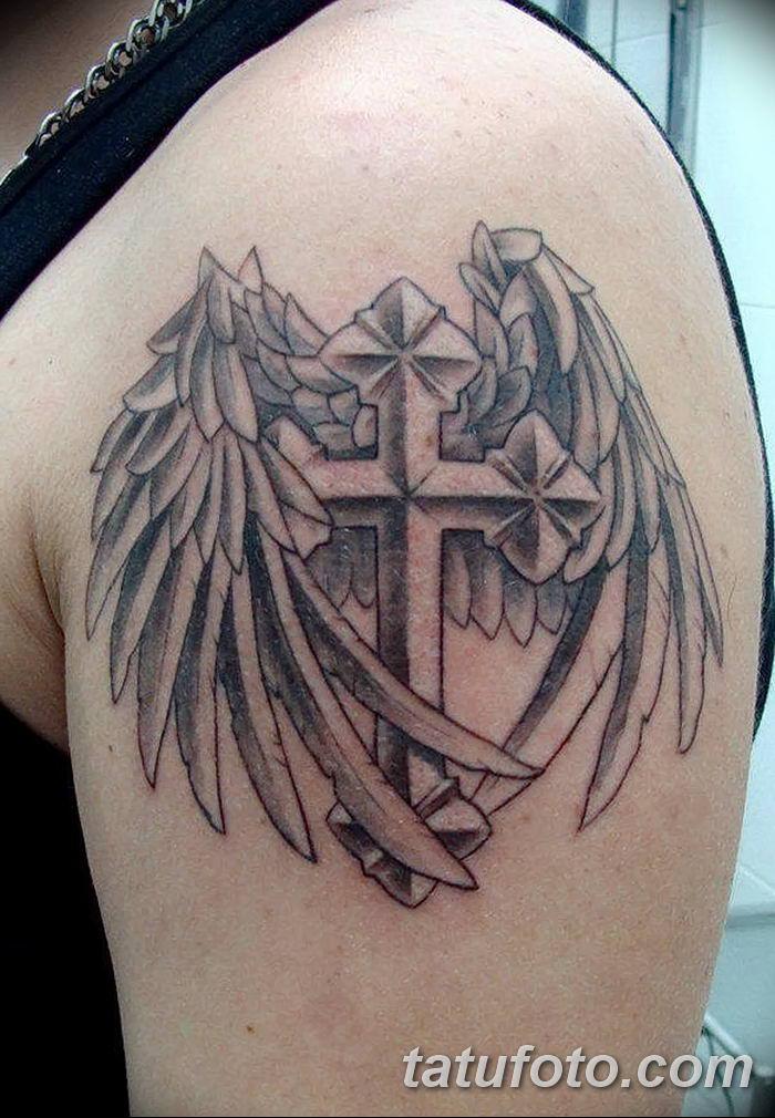 Фото рисунка тату Православный крест 12.10.2018 №185 - tattoo Orthodox - tatufoto.com
