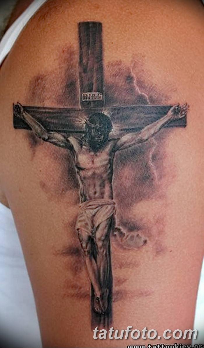 Фото рисунка тату Православный крест 12.10.2018 №204 - tattoo Orthodox - tatufoto.com
