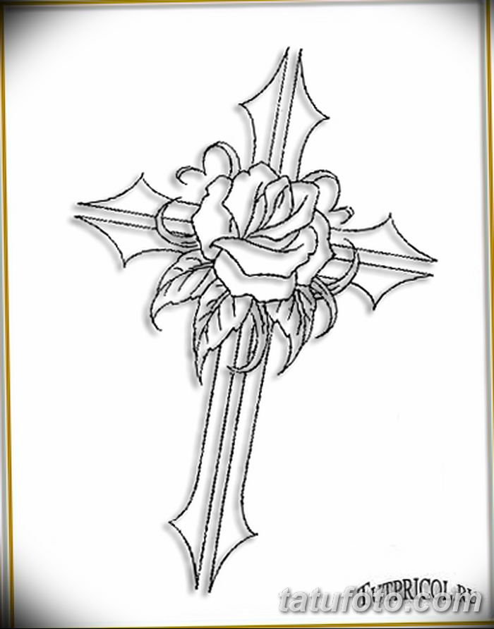 Фото рисунка тату Православный крест 12.10.2018 №211 - tattoo Orthodox - tatufoto.com