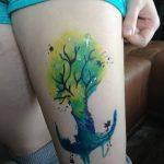 Фото рисунка тату дерево дуб 20.10.2018 №006 - tattoo tree oak drawing - tatufoto.com