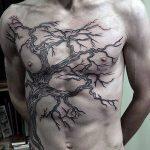 Фото рисунка тату дерево дуб 20.10.2018 №017 - tattoo tree oak drawing - tatufoto.com
