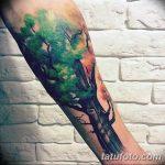 Фото рисунка тату дерево дуб 20.10.2018 №019 - tattoo tree oak drawing - tatufoto.com