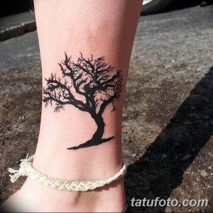 Фото рисунка тату дерево дуб 20.10.2018 №025 - tattoo tree oak drawing - tatufoto.com