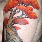 Фото рисунка тату дерево дуб 20.10.2018 №029 - tattoo tree oak drawing - tatufoto.com