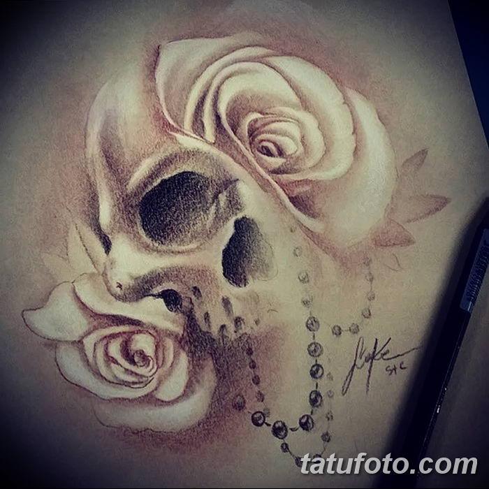 Фото рисунка тату жемчуг 13.10.2018 №040 - pearl tattoo - tatufoto.com