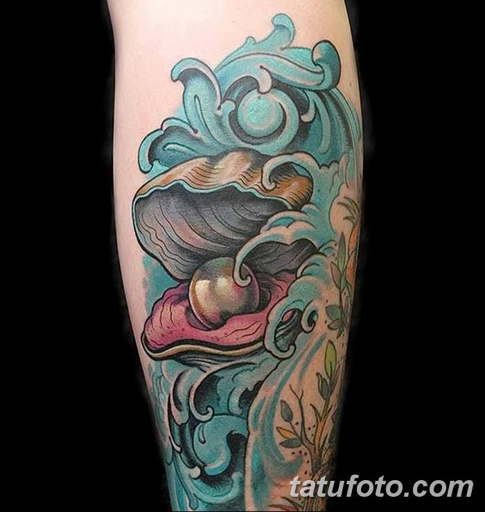 Фото рисунка тату жемчуг 13.10.2018 №055 - pearl tattoo - tatufoto.com