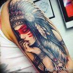 Фото рисунка тату индианка 30.10.2018 №057 - tattoo indian - tattoo-photo.ru