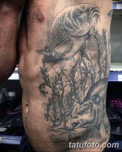 Фото рисунка тату карась 19.10.2018 №080 - tattoo carp drawing - tatufoto.com