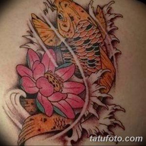 Фото рисунка тату карась 19.10.2018 №100 - tattoo carp drawing - tatufoto.com