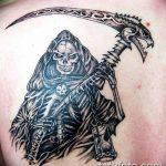 Фото рисунка тату смерть с косой 05.10.2018 №051 - tattoo death - tatufoto.com