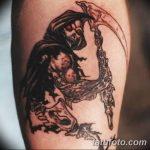 Фото рисунка тату смерть с косой 05.10.2018 №064 - tattoo death - tatufoto.com