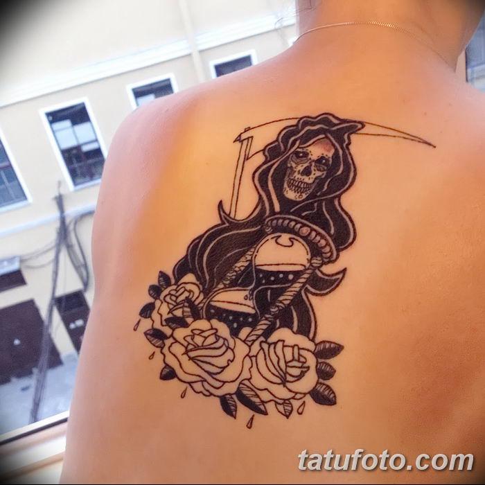 Фото рисунка тату смерть с косой 05.10.2018 №084 - tattoo death - tatufoto.com
