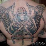 Фото рисунка тату смерть с косой 05.10.2018 №088 - tattoo death - tatufoto.com