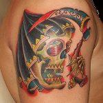 Фото рисунка тату смерть с косой 05.10.2018 №090 - tattoo death - tatufoto.com