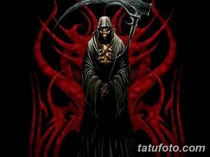 Фото рисунка тату смерть с косой 05.10.2018 №103 - tattoo death - tatufoto.com
