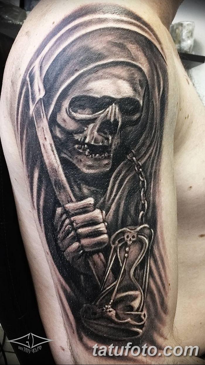 Фото рисунка тату смерть с косой 05.10.2018 №107 - tattoo death - tatufoto.com