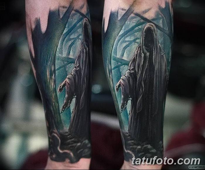 Фото рисунка тату смерть с косой 05.10.2018 №111 - tattoo death - tatufoto.com