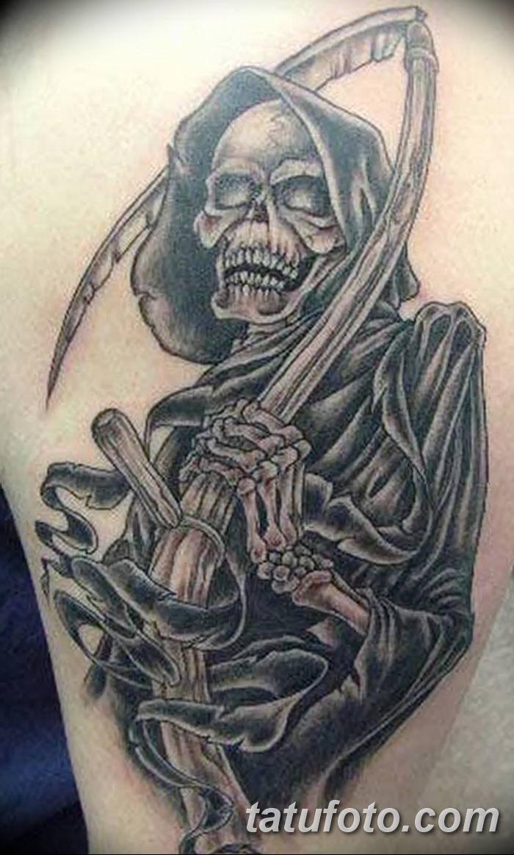 Фото рисунка тату смерть с косой 05.10.2018 №114 - tattoo death - tatufoto.com