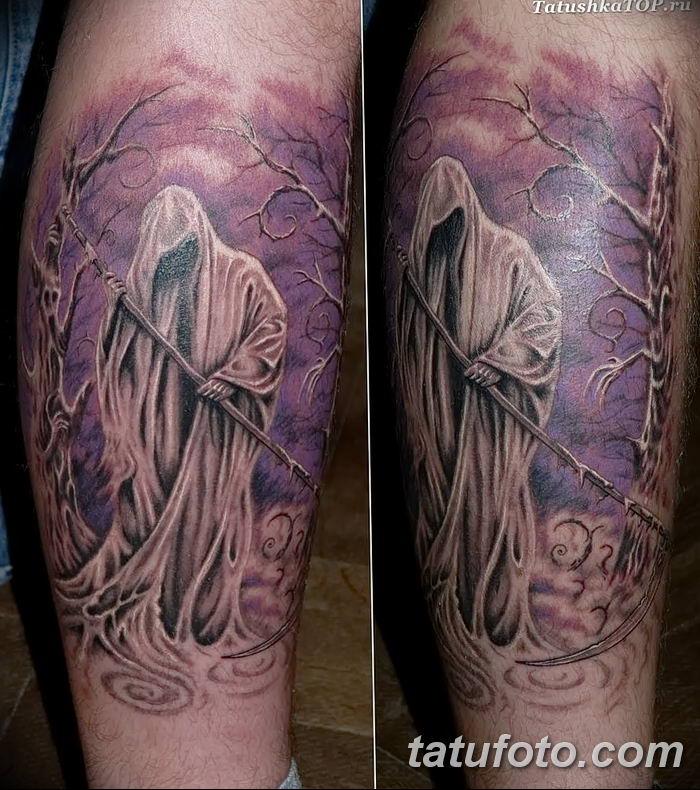 Фото рисунка тату смерть с косой 05.10.2018 №115 - tattoo death - tatufoto.com