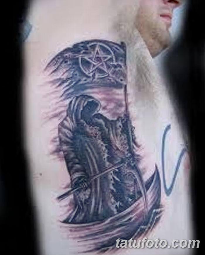 Фото рисунка тату смерть с косой 05.10.2018 №122 - tattoo death - tatufoto.com