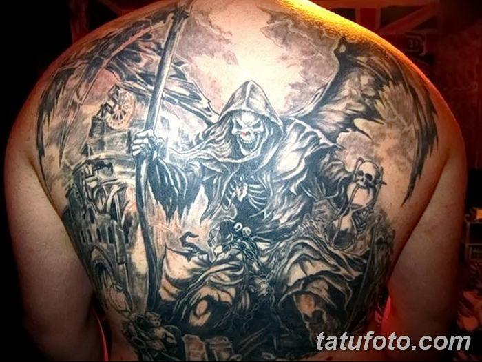 Фото рисунка тату смерть с косой 05.10.2018 №125 - tattoo death - tatufoto.com