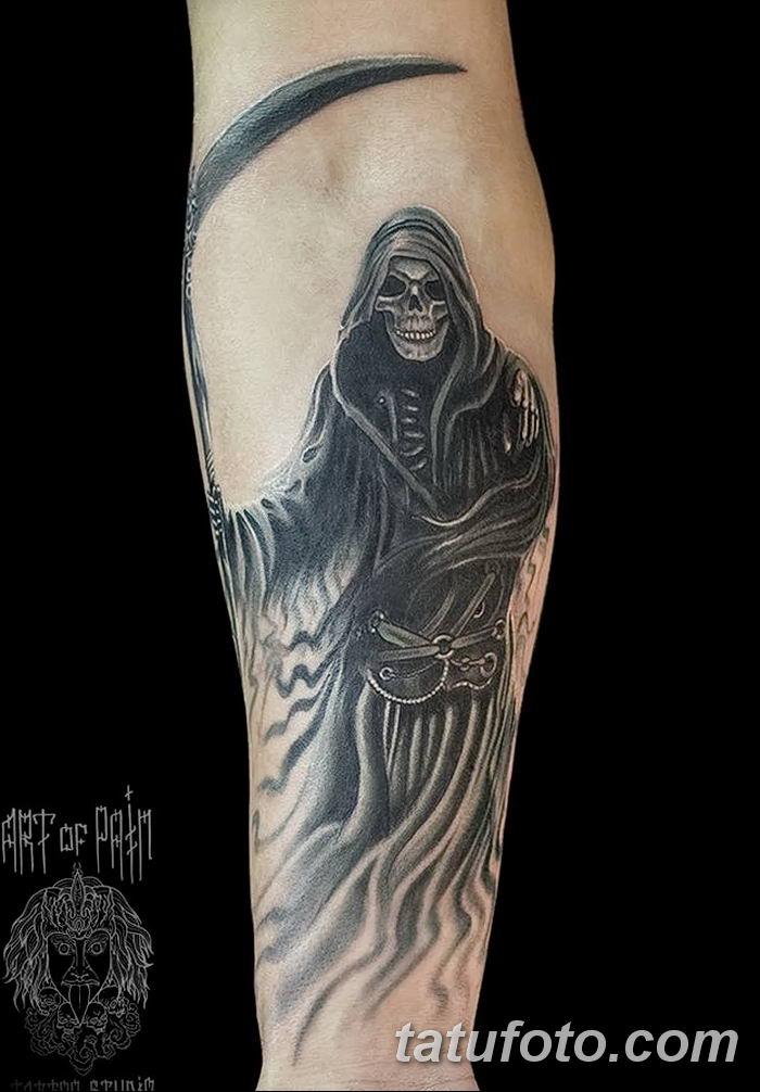 Фото рисунка тату смерть с косой 05.10.2018 №126 - tattoo death - tatufoto.com