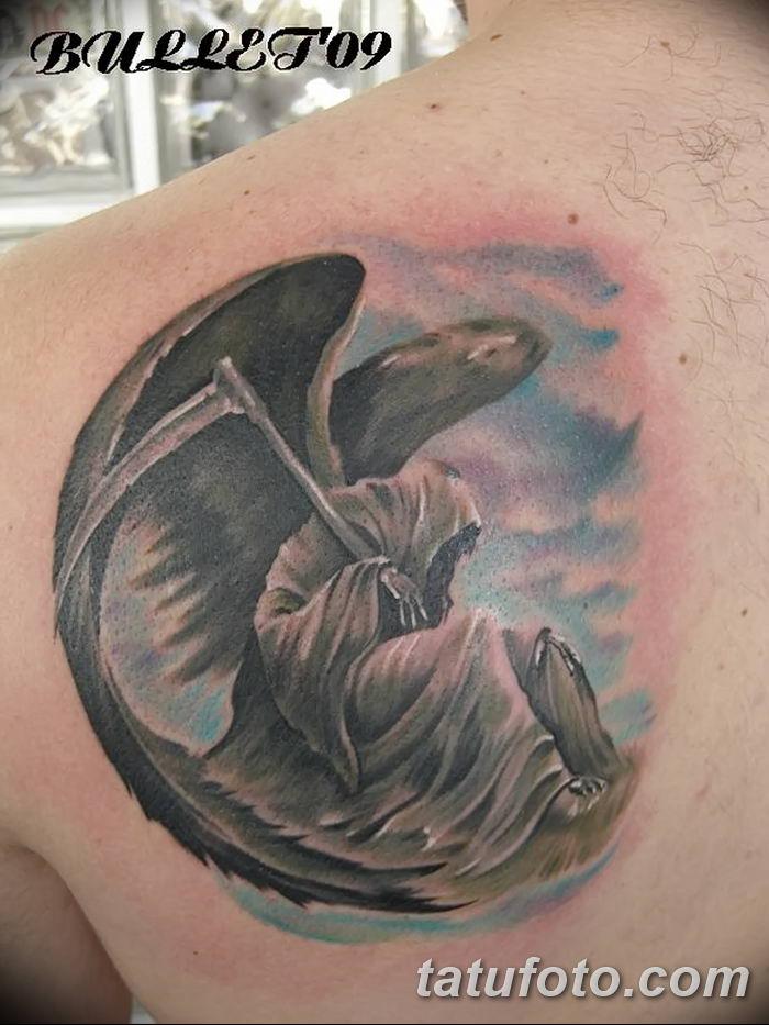 Фото рисунка тату смерть с косой 05.10.2018 №127 - tattoo death - tatufoto.com