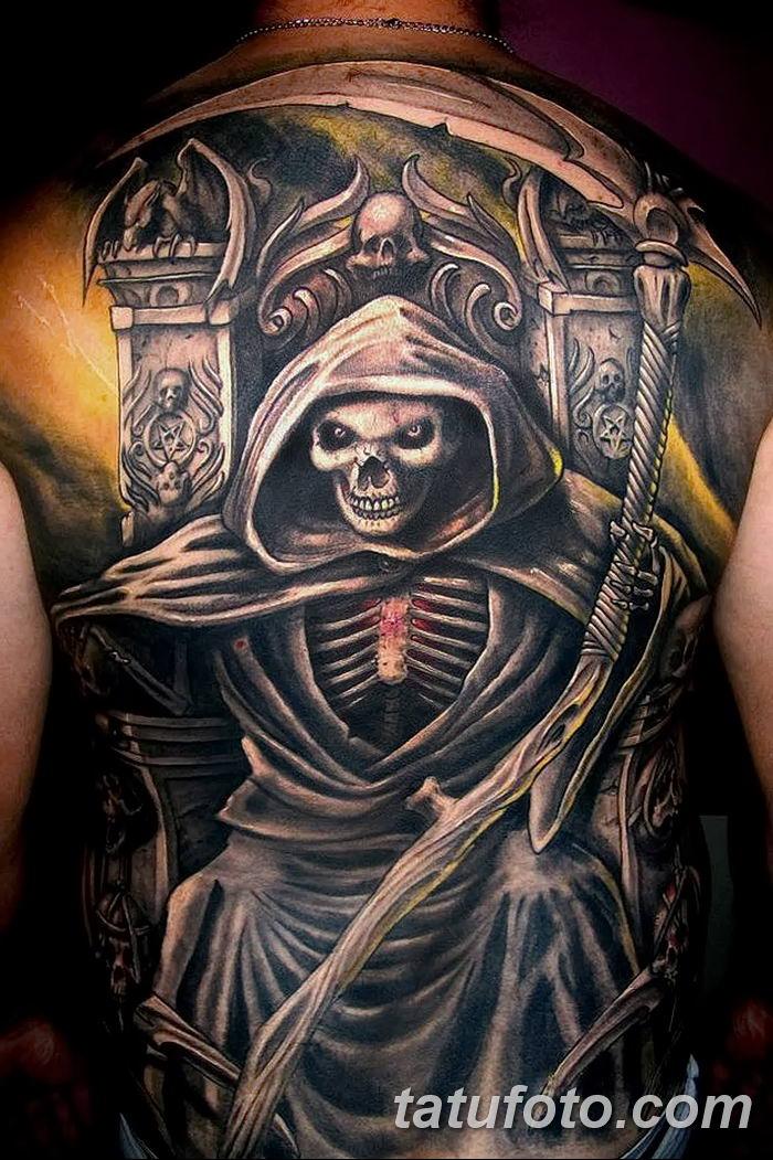Фото рисунка тату смерть с косой 05.10.2018 №129 - tattoo death - tatufoto.com