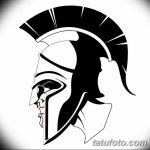 Фото рисунка тату шлем спартанца 09.10.2018 №045 - spartan helmet tattoo - tatufoto.com