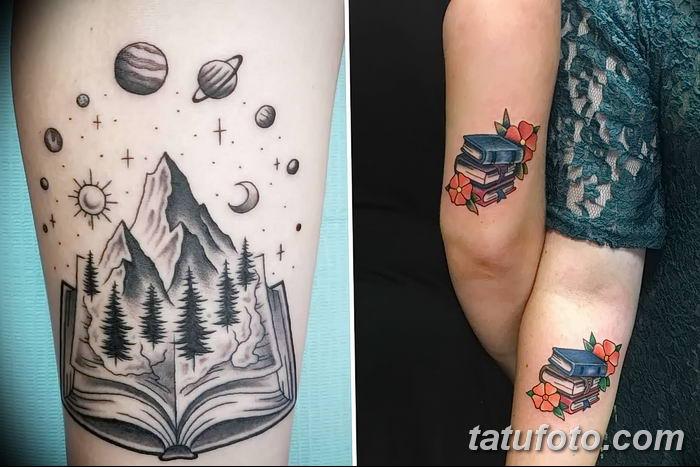 Фото рисунок тату книга 11.10.2018 №001 - tattoo picture book - tatufoto.com