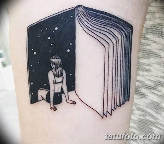 Фото рисунок тату книга 11.10.2018 №005 - tattoo picture book - tatufoto.com