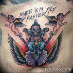 Фото тату мотоцикл 27.10.2018 №020 - motorcycle tattoo photo - tatufoto.com