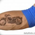 Wonderful Vintage Motorcycle Forearm Tattoo - Tattooimages.biz w