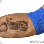 Wonderful Vintage Motorcycle Forearm Tattoo - Tattooimages.biz w