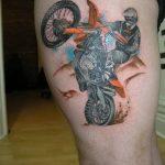 Фото тату мотоцикл 27.10.2018 №028 - motorcycle tattoo photo - tatufoto.com