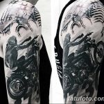 Фото тату мотоцикл 27.10.2018 №042 - motorcycle tattoo photo - tatufoto.com