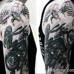 Фото тату мотоцикл 27.10.2018 №042 - motorcycle tattoo photo - tatufoto.com