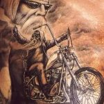 Фото тату мотоцикл 27.10.2018 №066 - motorcycle tattoo photo - tatufoto.com
