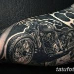 Фото тату мотоцикл 27.10.2018 №087 - motorcycle tattoo photo - tatufoto.com