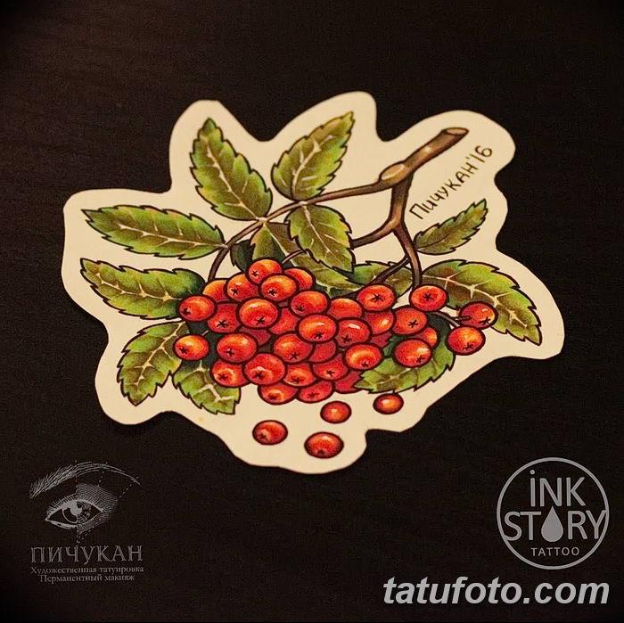 Фото тату рябина 27.10.2018 №013 - rowan tattoo photo - tatufoto.com