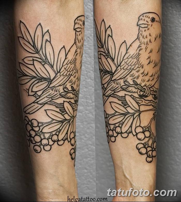 Фото тату рябина 27.10.2018 №045 - rowan tattoo photo - tatufoto.com