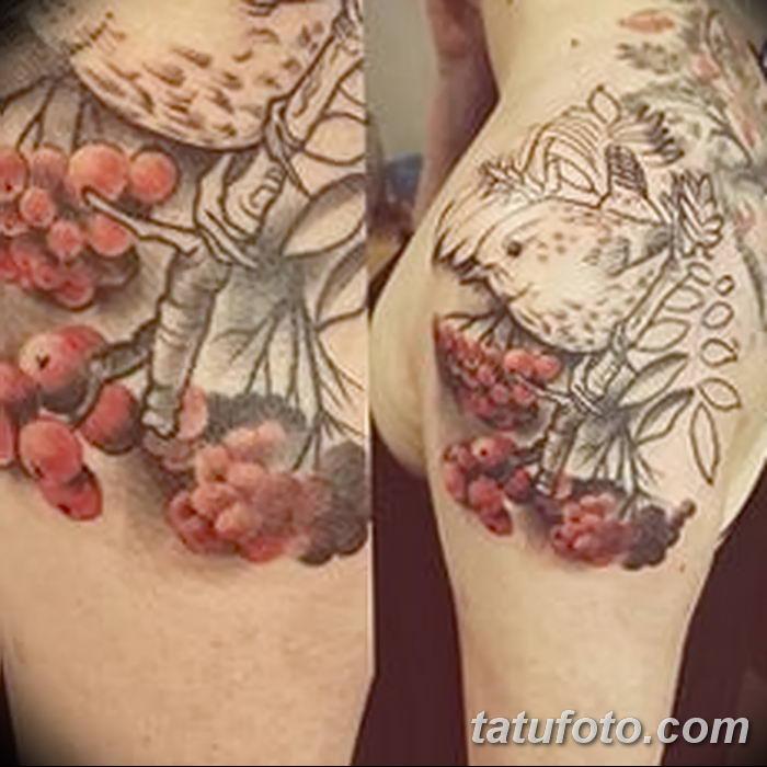 Фото тату рябина 27.10.2018 №046 - rowan tattoo photo - tatufoto.com