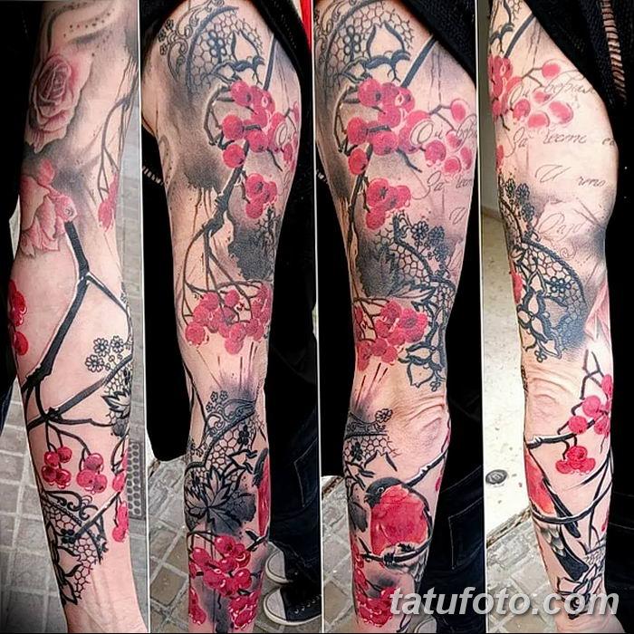 Фото тату рябина 27.10.2018 №048 - rowan tattoo photo - tatufoto.com