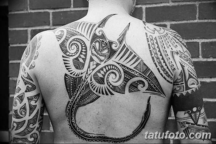 Фото тату скат манта 24.10.2018 №024 - tattoo manta photo - tatufoto.com